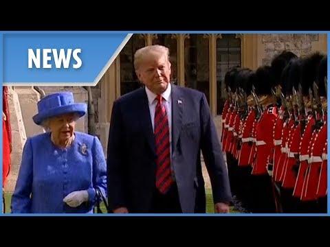 Donald Trump meets the Queen for tea