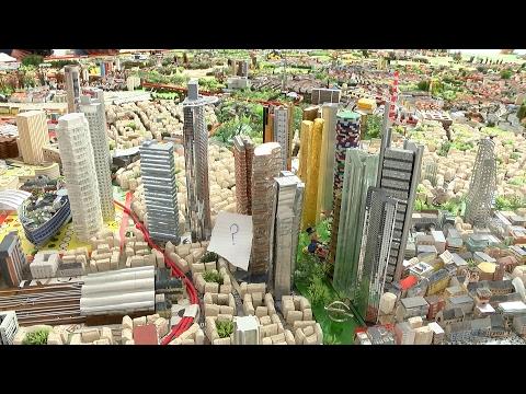 Miniaturmodell von Frankfurt