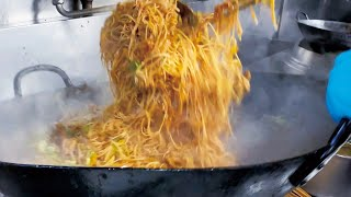 19人分のインドネシア風ビーフン炒めを一気に作る調理動画【まかない】Indonesian rice noodles for 19 people