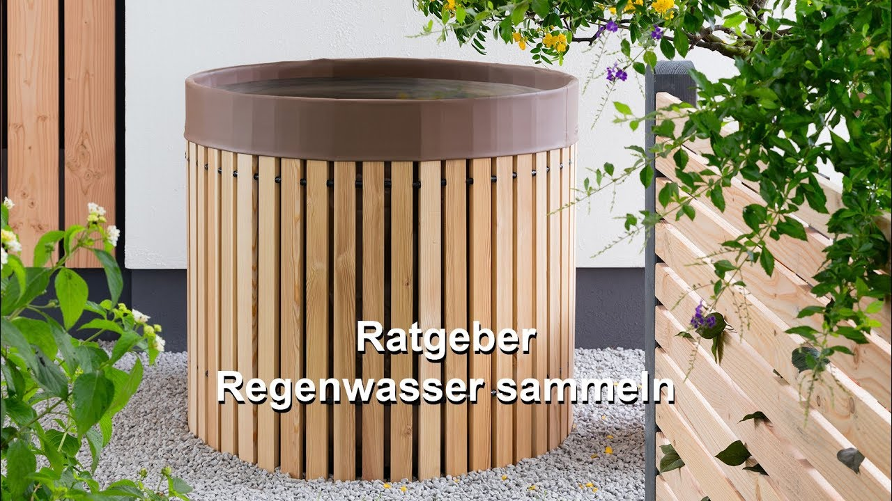 ratgeber regenwasser sammeln youtube. Black Bedroom Furniture Sets. Home Design Ideas