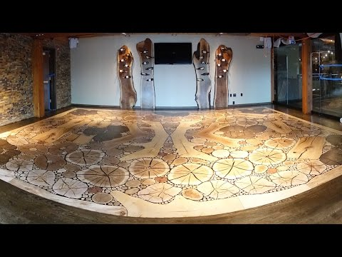 Mosaic Wood Floor - How It's Made - Rails Steakhouse