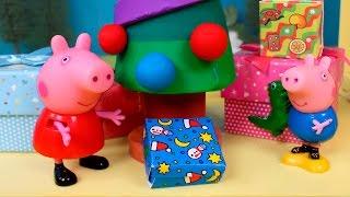 ❤ PEPPA PIG ❤ Peppa y george abren muchos regalos de Navidad   Peppa Pig Juguetes en Español