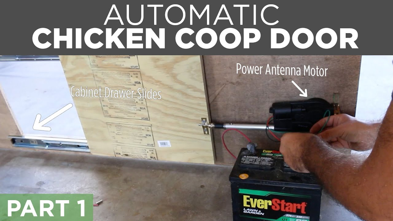 diy automatic chicken coop door opener build part 1 [ 1280 x 720 Pixel ]
