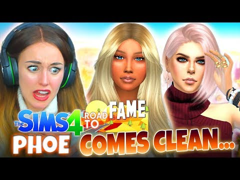 PHOENIX COMES CLEAN...💔 (The Sims 4 ROAD TO FAME #5!🤩)