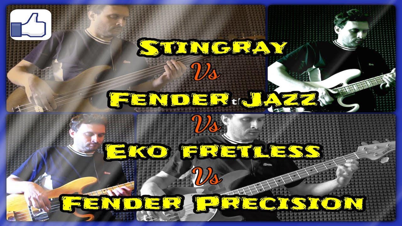 musicman stingray vs fender jazz 76 vs precision 77 vs eko fretless with ats lba5 bass test. Black Bedroom Furniture Sets. Home Design Ideas