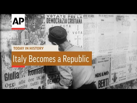Italy Becomes A Republic