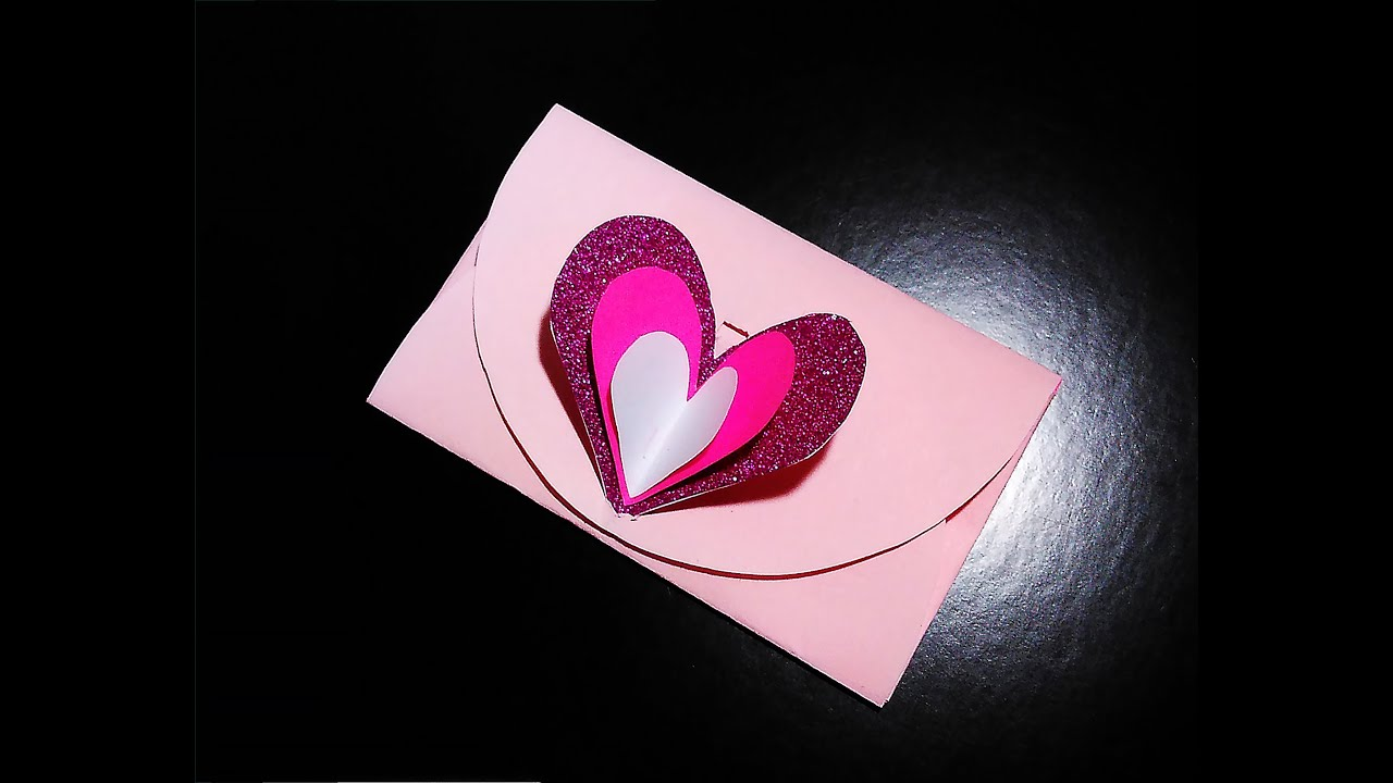 Easy heart envelope for valentines day or greeting card with easy heart envelope for valentines day or greeting card with lock no templates youtube bookmarktalkfo Images