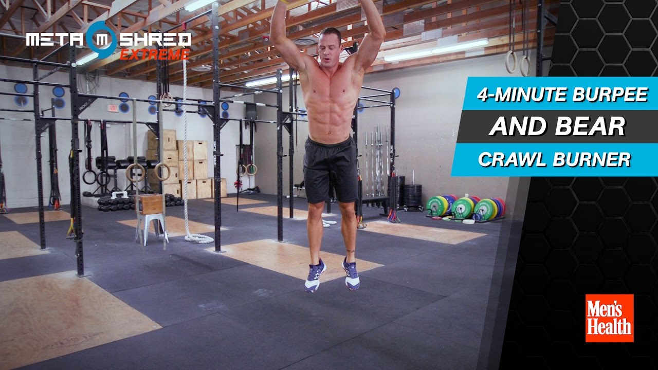 4 min Burpee And Bear Crawl Burnout  Created by Men's Health