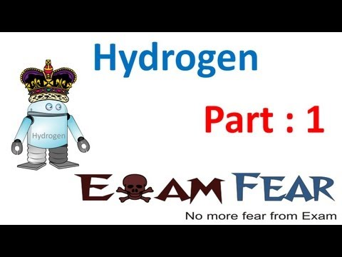Chemistry Hydrogen part 1 (Introduction) CBSE class 11 XI