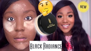 NEW DRUGSTORE MAKEUP! BLACK RADIANCE SETTING POWDER!? Oily / Dark Skin Makeup 2018 - Rose Kimberly