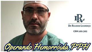 Hemorroidectomia por PPH,  mesa cirúrgica