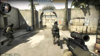 Counter Strike: Global Offensive GAMEPLAY- Single Player Dust, Casual Mode (BOT Game)