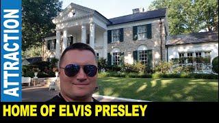 Elvis Presley home Graceland mansion museum 650,000 visitors a year   Jarek in Memphis Tennessee USA