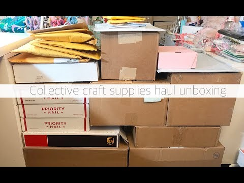 HUGE COLLECTIVE CRAFTY HAUL UNBOXING