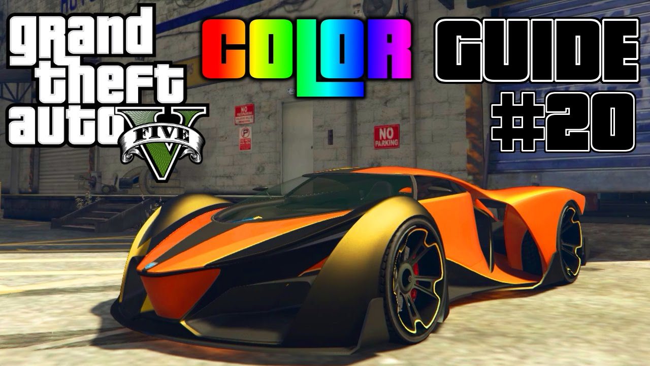Gta V Ultimate Color Guide 20 Grotti X80 Proto Best
