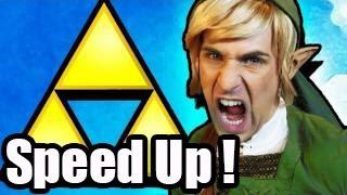 Repeat youtube video Smosh :THE LEGEND OF ZELDA RAP [MUSIC VIDEO] (Speed Up!)
