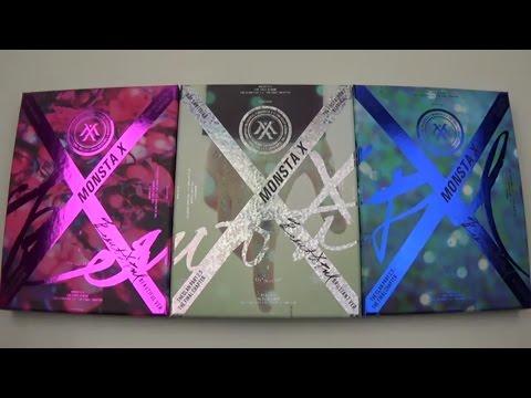 Group Photo Card Official K-POP 20 MONSTA X 1st Album Beautiful BESIDE Ver