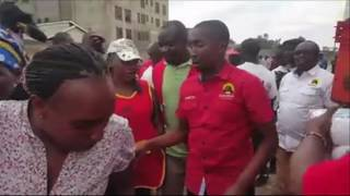 ODM angered by video in which people with Jubilee T-shirts were distributing maize flour (unga).