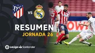 Resumen de Atlético de Madrid vs Real Madrid (1-1)