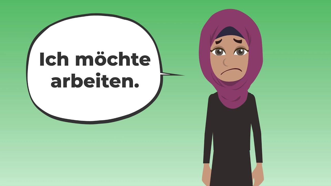 Deutsch lernen mit Dialogen | Ich möchte arbeiten in Deutschland | Grammatik Verben