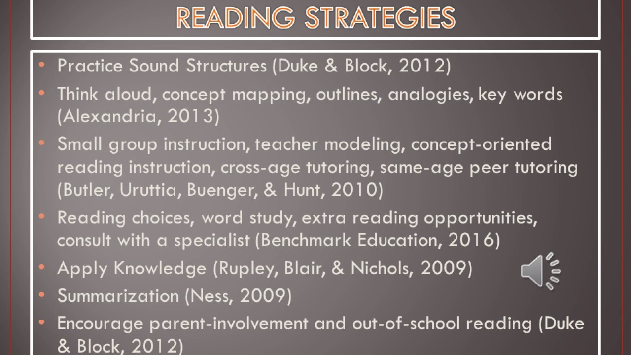 Educ 637 The Importance Of Effective Reading Strategies Ppt Youtube