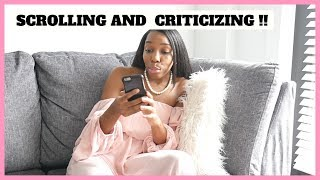 Sitting, watching & criticizing   You'll be criticized by people doing less...