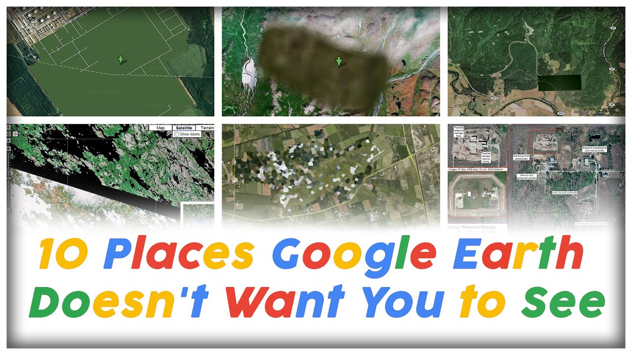 10 Places Google Earth Doesn't Want You to See