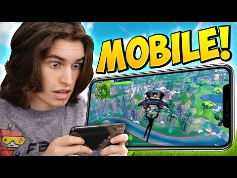 PLAYING Fortnite: Battle Royale ON MOBILE! (ITS TRASH)