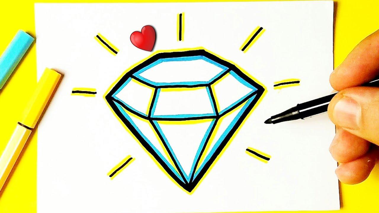 Como Desenhar Um Diamante Bonito Desenhos Kawaii Desenho Para Desenhar