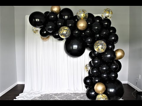 Black and Gold Balloon Garland DIY | How To