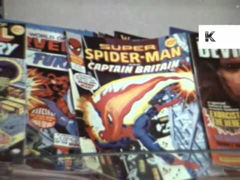 1970s Teenage Boys Buying Superhero Comics, Magazines, UK