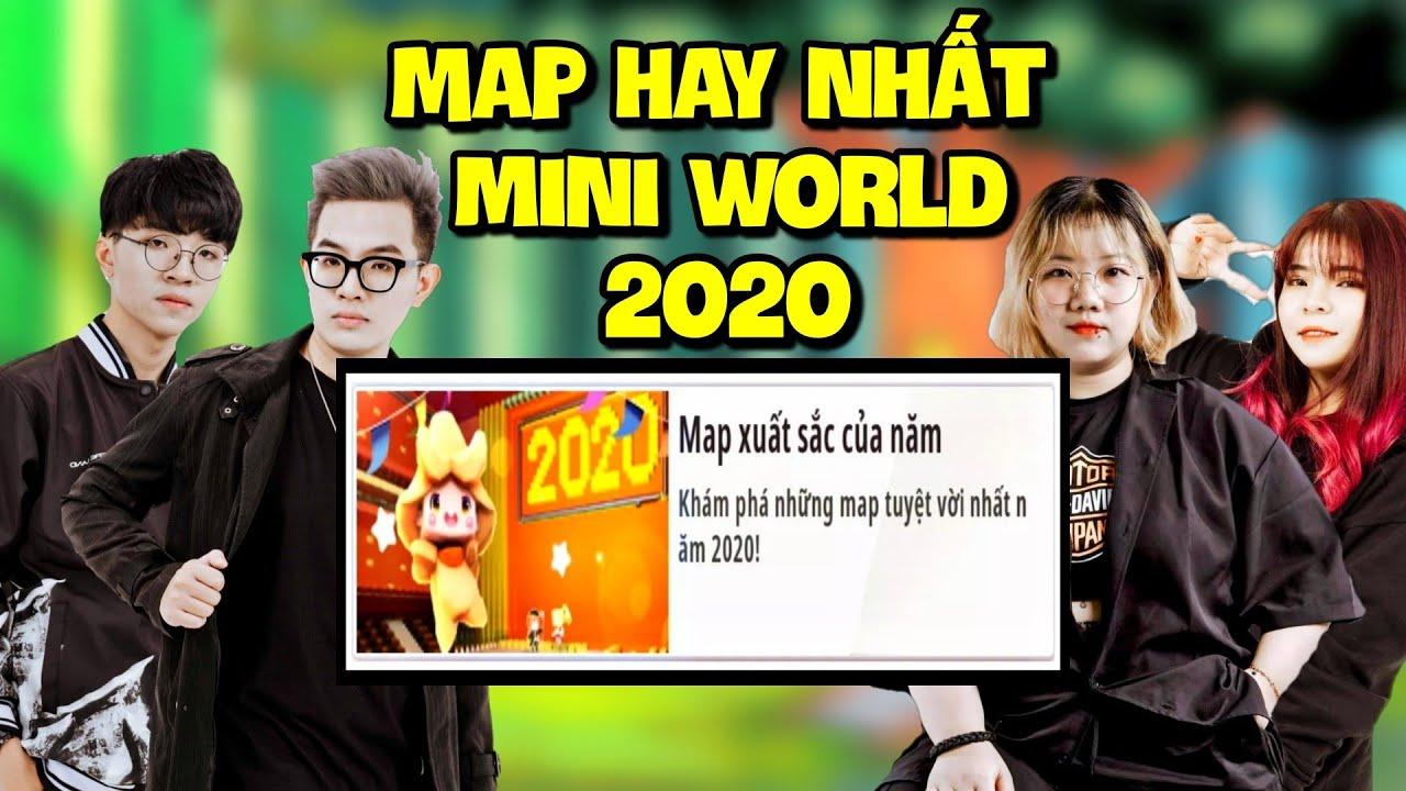 MEOWPEO THỬ THÁCH KHÁM PHÁ NHỮNG MAP XUẤT SẮC NHẤT 2020 CÙNG BEE TEAM*MAP MINI WORLD HAY NHẤT 2020
