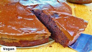 Rezept: Schokoladenkuchen mit Schoko-Frosting / Vegan / Chocolate Cake
