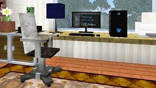 РАБОЧИЙ УГОЛОК ЮТУБЕРА В МАЙНКРАФТ - ч 8 - Minecraft - Строительный креатив 3