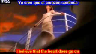 My heart will go on - Titanic ( SUBTITULADA EN ESPAÑOL   INGLES LYRICS LETRAS SUB) - YouTube.flv