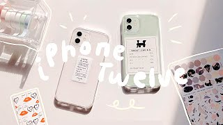 iPHONE 12 - white v. green unboxing + accessories 📱// 아이폰12 화이트 민트 언박싱