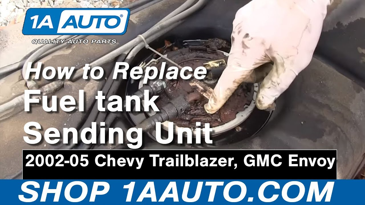 how to install replace fuel tank sending unit and pump gmc envoy chevy trailblazer [ 1280 x 720 Pixel ]