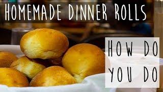 Homemade Dinner Rolls || Cooking for 100