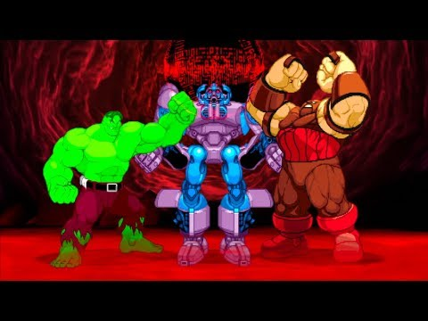 Marvel VS Capcom 2 - Hulk/Sentinel/Juggernaut - Expert Difficulty Playthrough