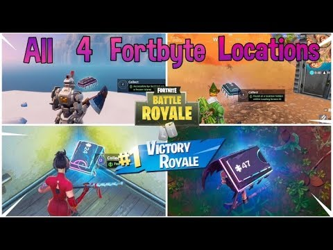 All 4 Fortnite Fortbytes Locations||Fortbyte Challenge Guide||