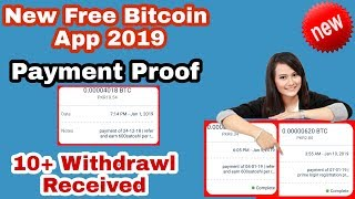 New Free Bitcoin Earning App payment proof 2019 || Mini withdraw 200 Satoshi