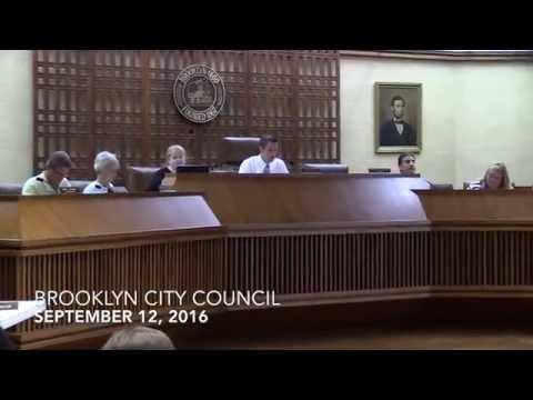 Brooklyn Council Meeting - 9/12/16