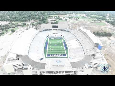 University of Kentucky Wildcats Commonwealth Stadium HD P3 Pro Drone
