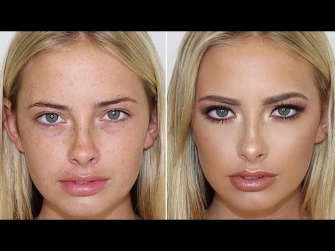 Dewy Skin & Rose Gold Smokey Eye Makeup Tutorial ♡ Jasmine Hand
