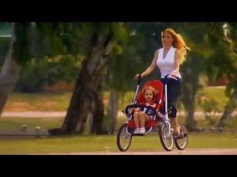 велосипед коляска для мамы и ребенка купить - YouTube