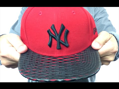 9de1cc8486f Yankees  LEATHER-RIP SNAPBACK  Red-Black Hat by New Era - YouTube