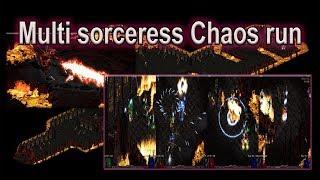 Diablo 2: Multi Sorceress Chaos run - Who wins?