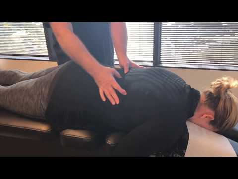1st Time Chiropractic Adjustment At Advanced Chiropractic Relief for Houston Lady