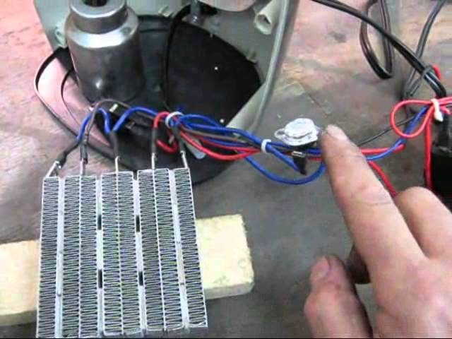 Ptc Ceramic Space Heater Repair And Safety Demonstration Youtube