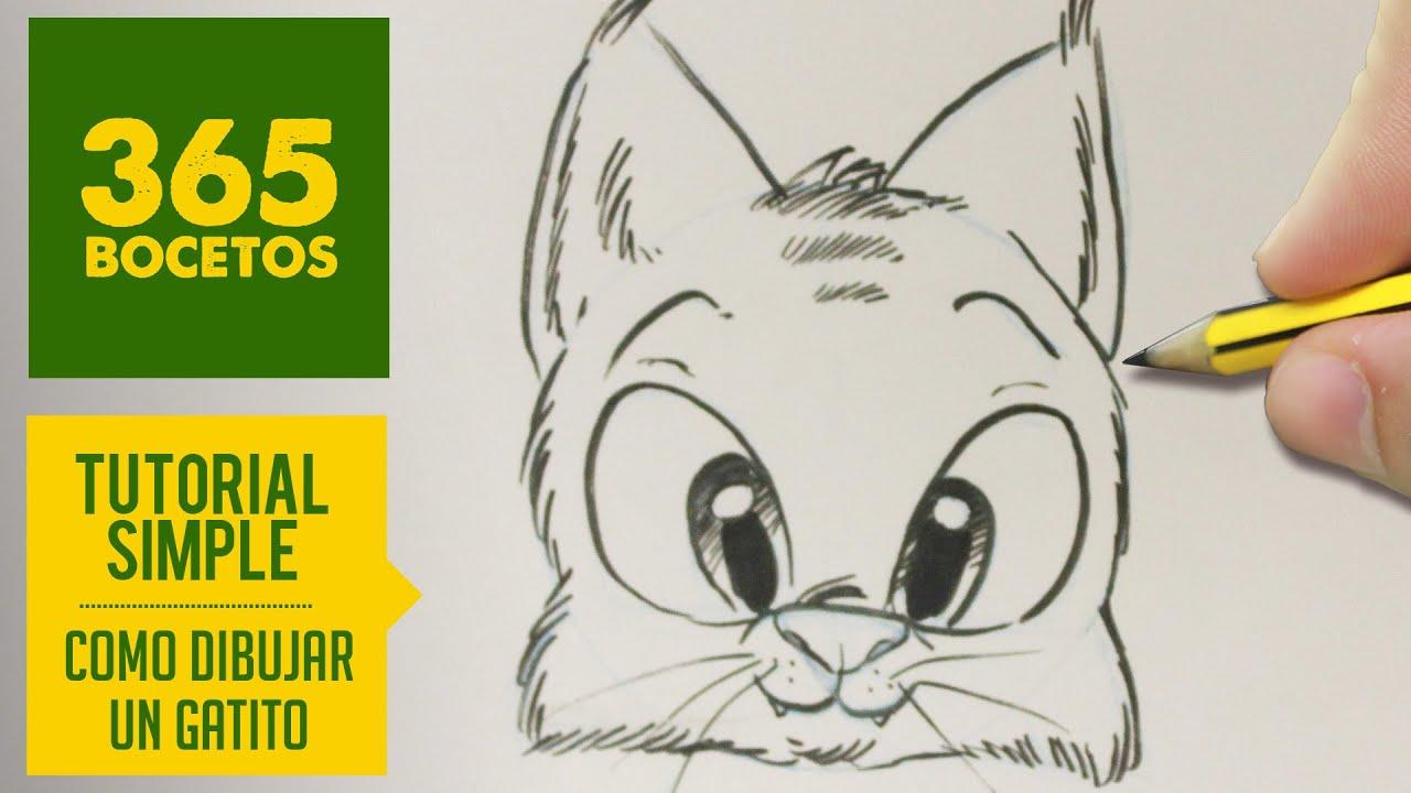 COMO DIBUJAR UNA GATO KAWAII PASO A PASO , Dibujos kawaii faciles , How to draw a cat